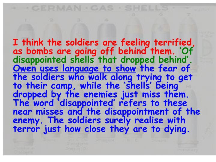 I think the soldiers are feeling terrified, as bombs are going off behind them.