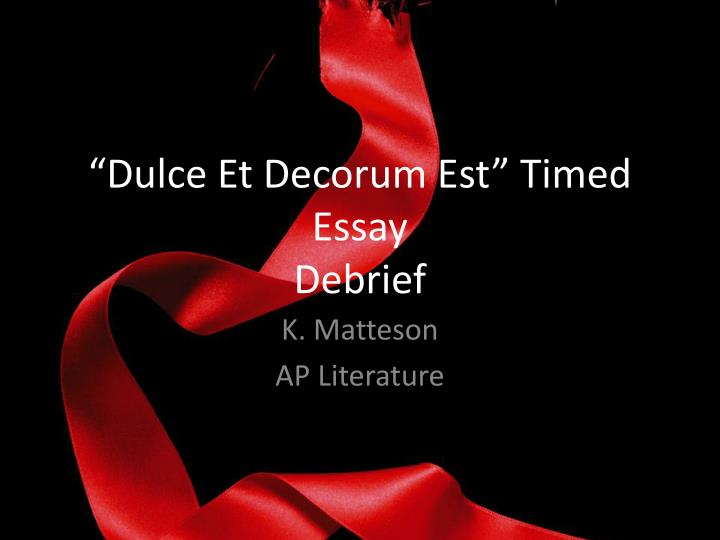 comparison between war is kind and dulce et decorum est