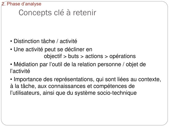 2. Phase d'analyse