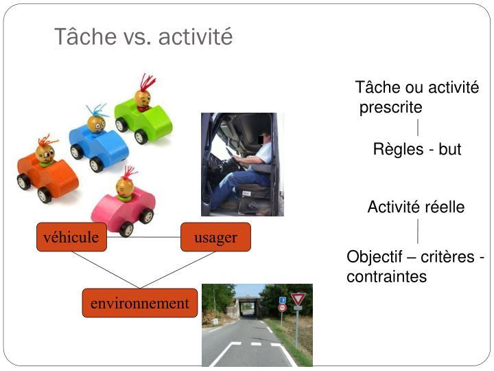 Tâche vs. activité