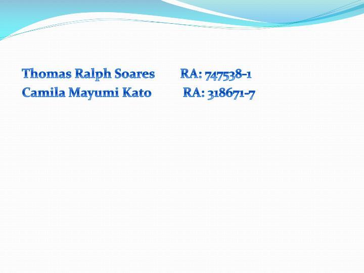 Thomas Ralph Soares