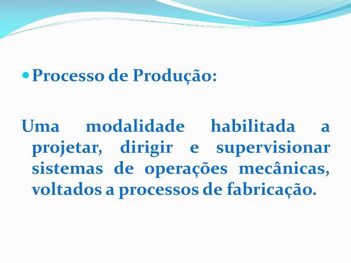 Processo de Produção: