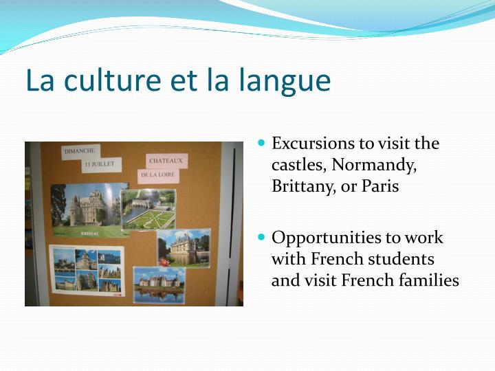 La culture et la langue
