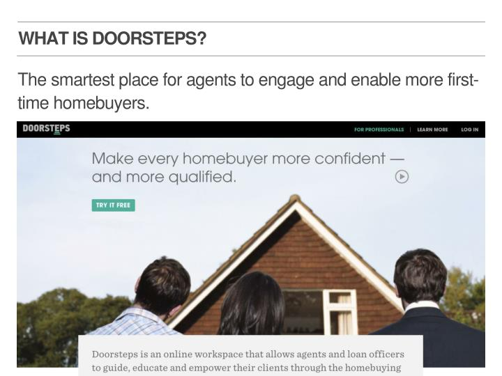 WHAT IS DOORSTEPS?