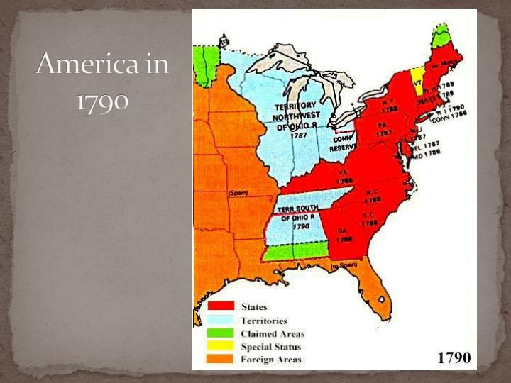 America in 1790