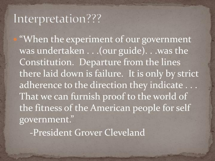 Interpretation???