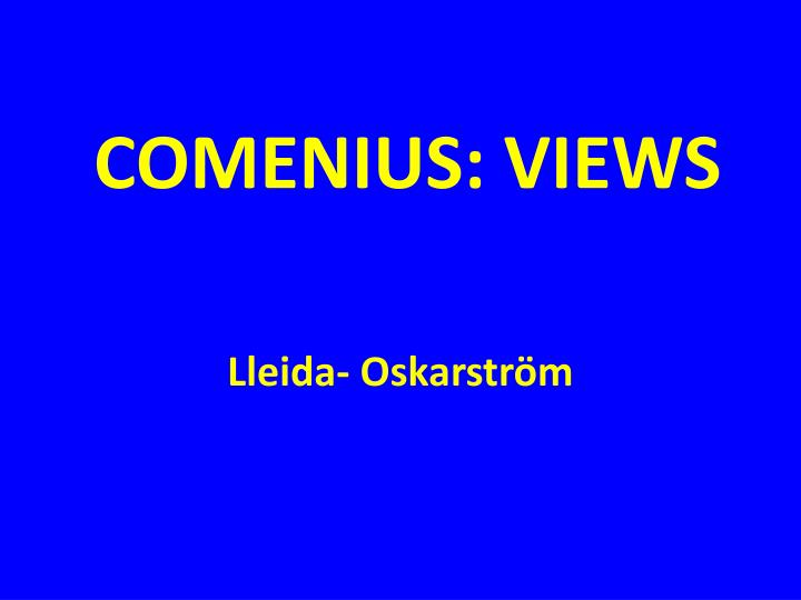 Comenius views