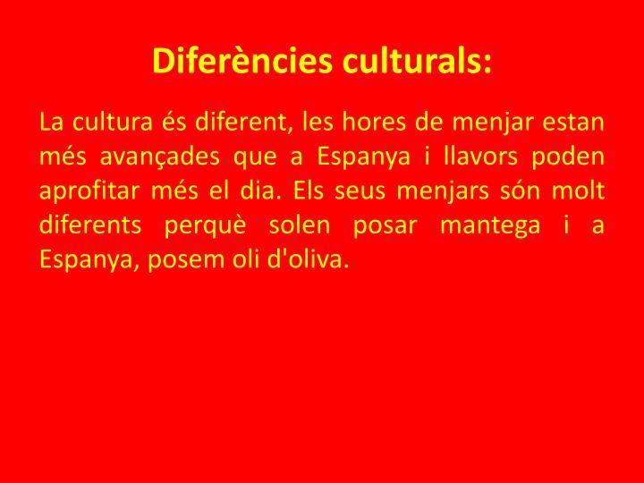 Diferències culturals: