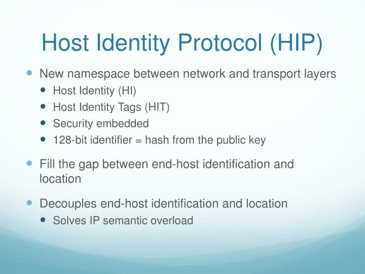 Host Identity Protocol (HIP)