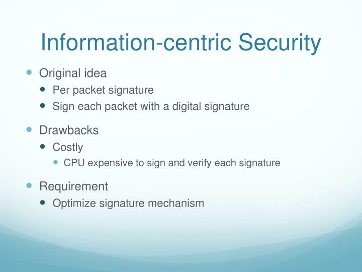 Information-centric Security
