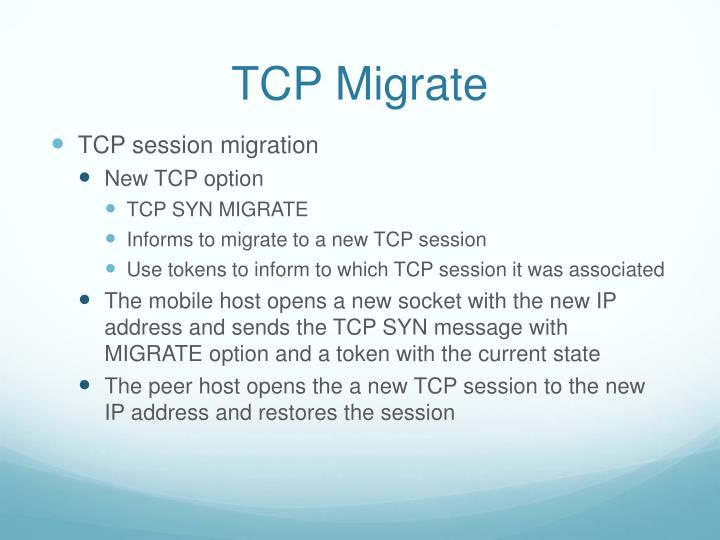 TCP Migrate