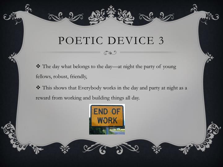 Poetic device 3