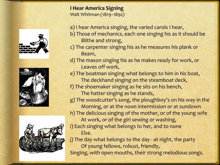 I Hear America Signing
