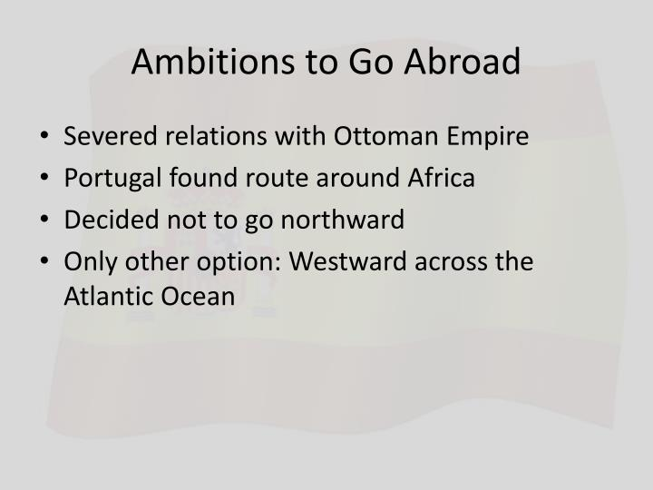 Ambitions to Go Abroad