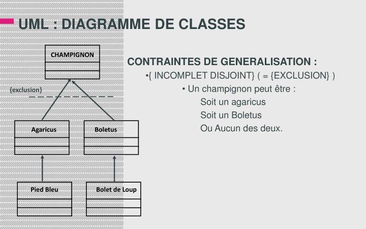 UML : DIAGRAMME DE CLASSES