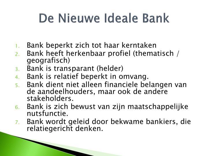 De Nieuwe Ideale Bank