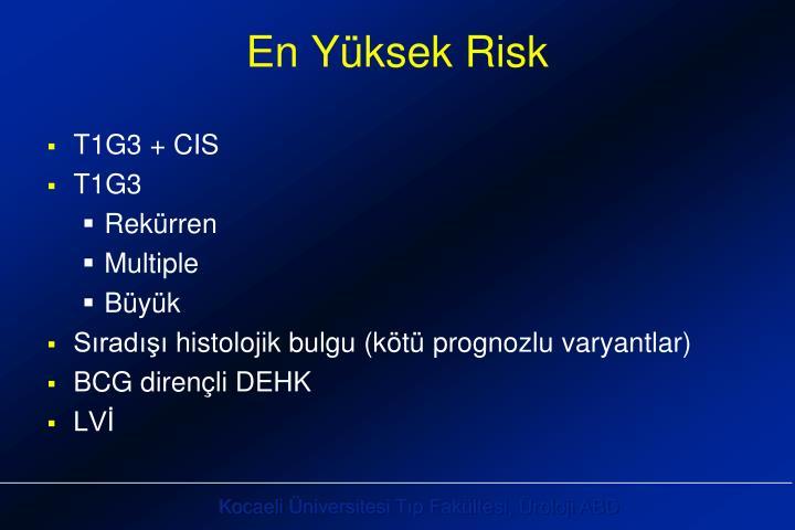 En Yüksek Risk