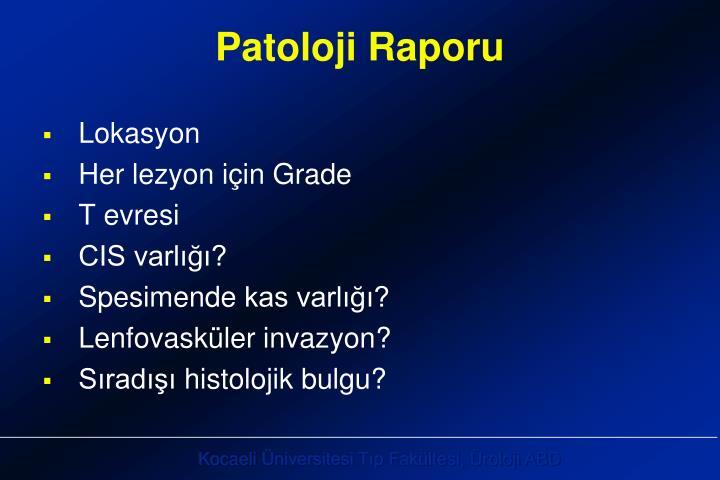 Patoloji Raporu