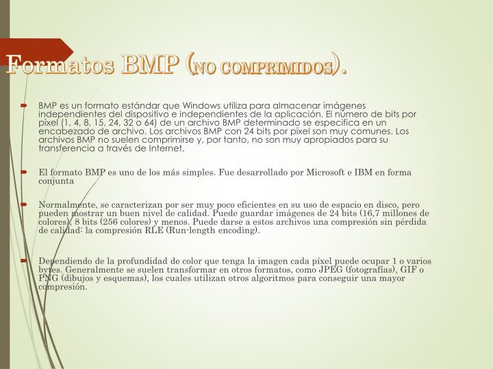 Formatos BMP (