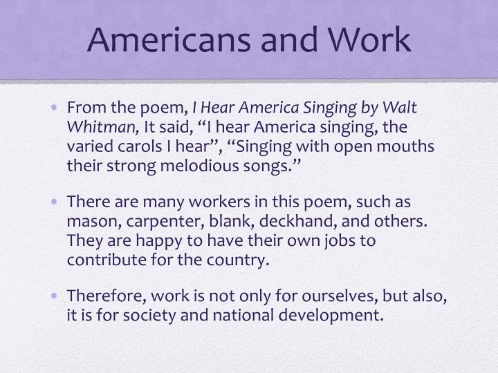 Americans and Work