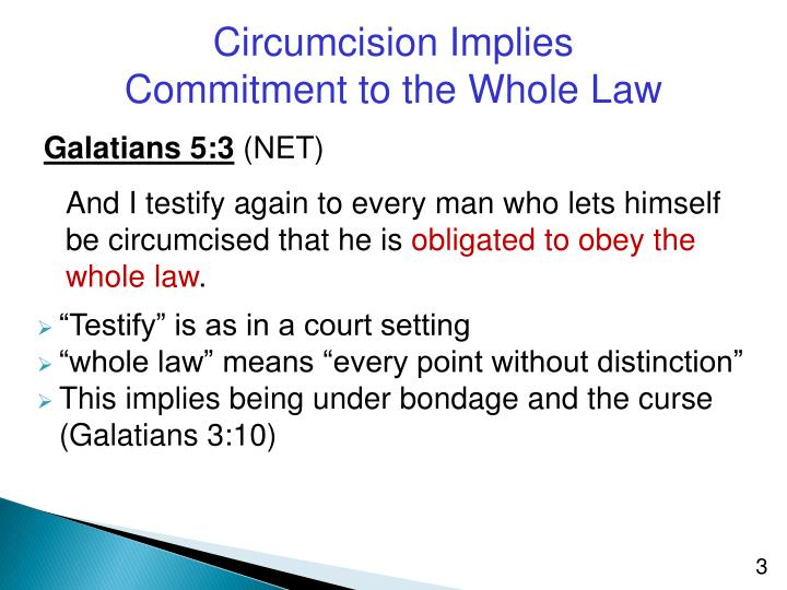 Circumcision Implies