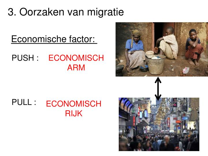 3. Oorzaken van migratie