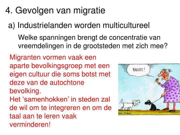 4. Gevolgen van migratie