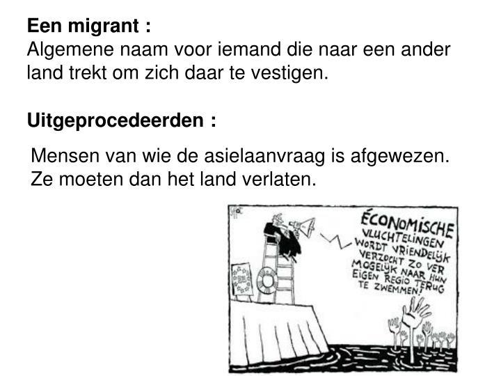 Een migrant :