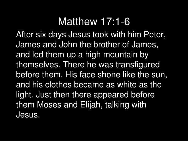 Matthew 17:1-6