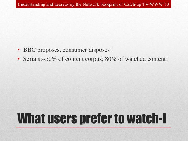 Understanding and decreasing the Network Footprint of Catch-up TV-WWW'13