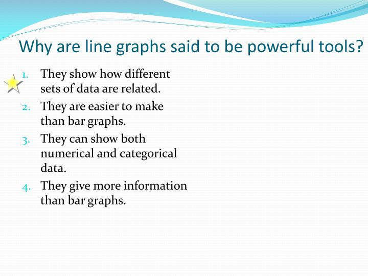 Why are line graphs said to be powerful tools?