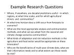 example r esearch questions