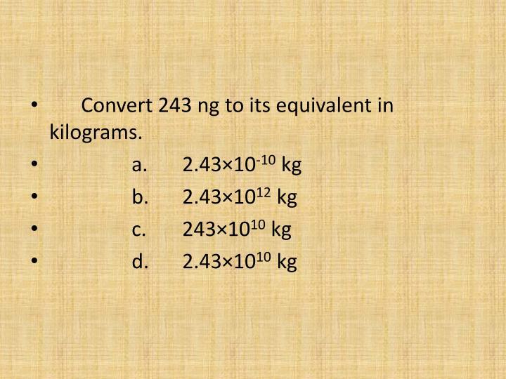 Convert 243