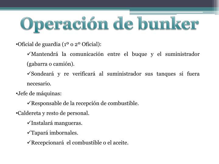 Operación de bunker
