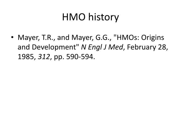HMO history
