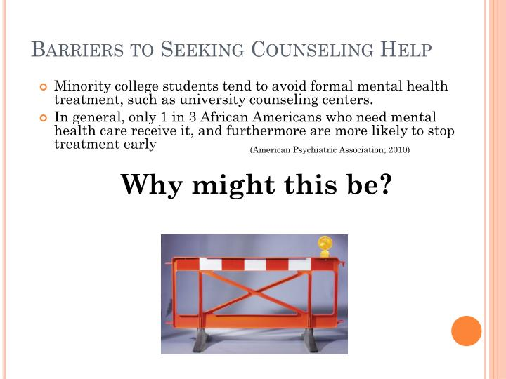 Barriers to Seeking Counseling Help