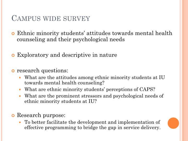 Campus wide survey