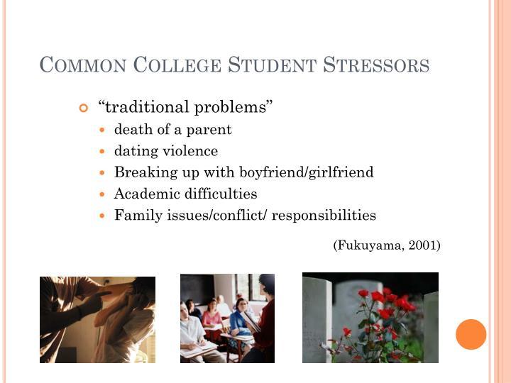 Common College Student Stressors