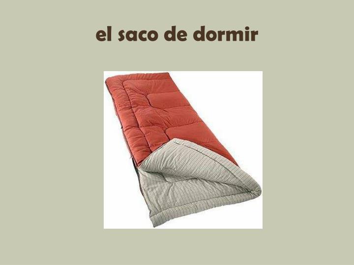 el saco de dormir