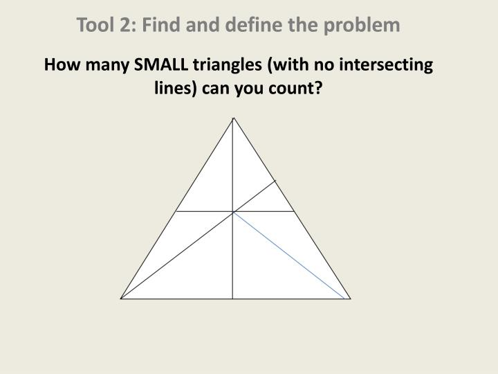 Tool 2: Find and define the problem
