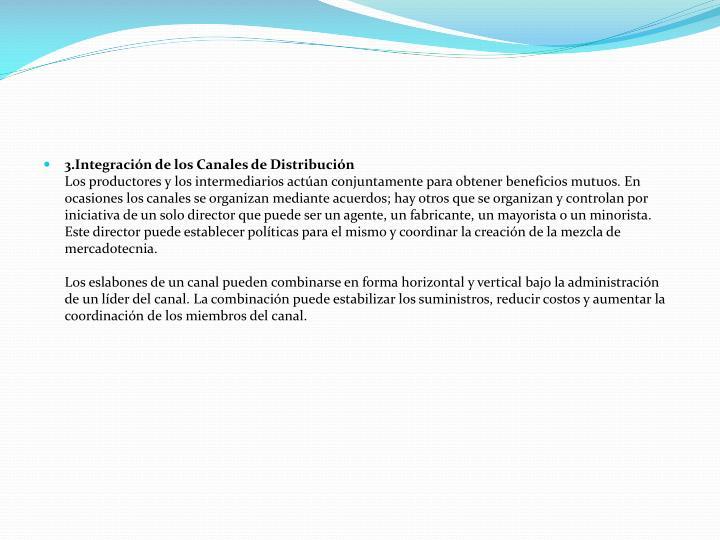 3.Integración de los Canales de Distribución
