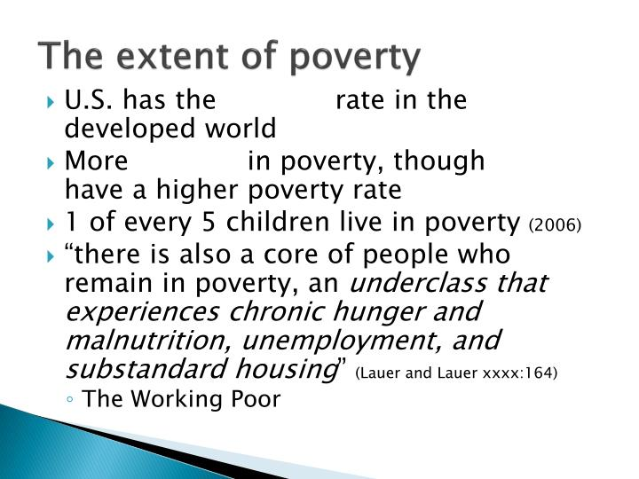 The extent of poverty