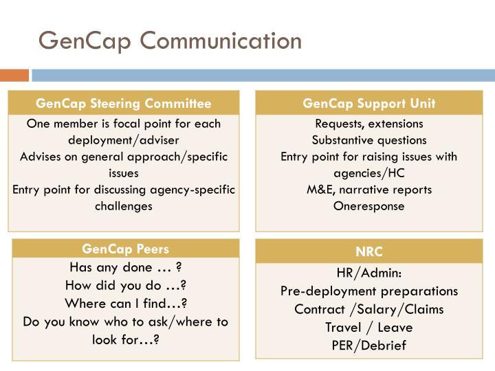 GenCap Communication