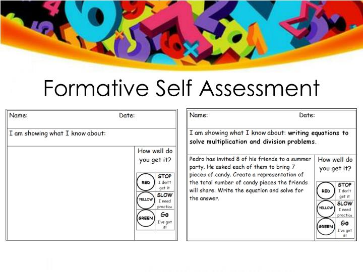 Formative Self Assessment