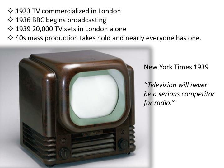 1923 TV commercialized in London