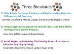 three breakouts