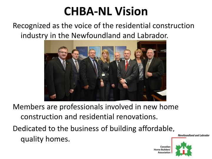 CHBA-NL Vision