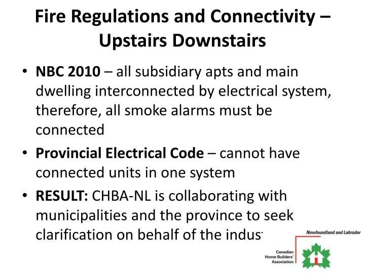 Fire Regulations and Connectivity – Upstairs Downstairs