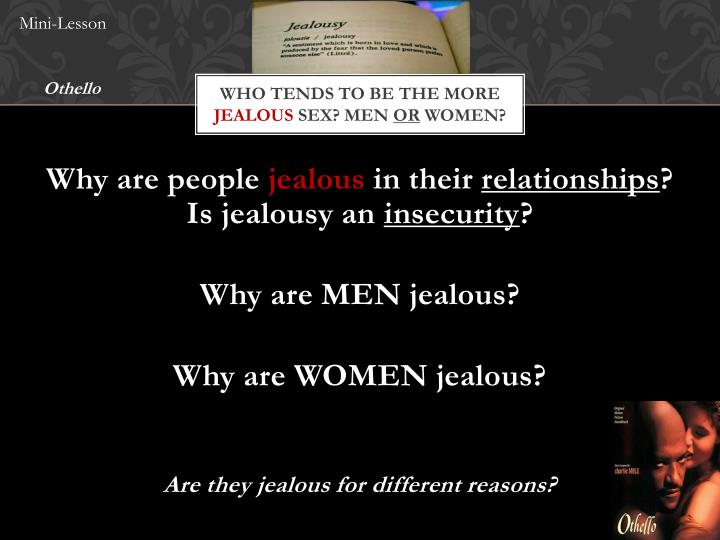 Who tends to be the more jealous sex men or women