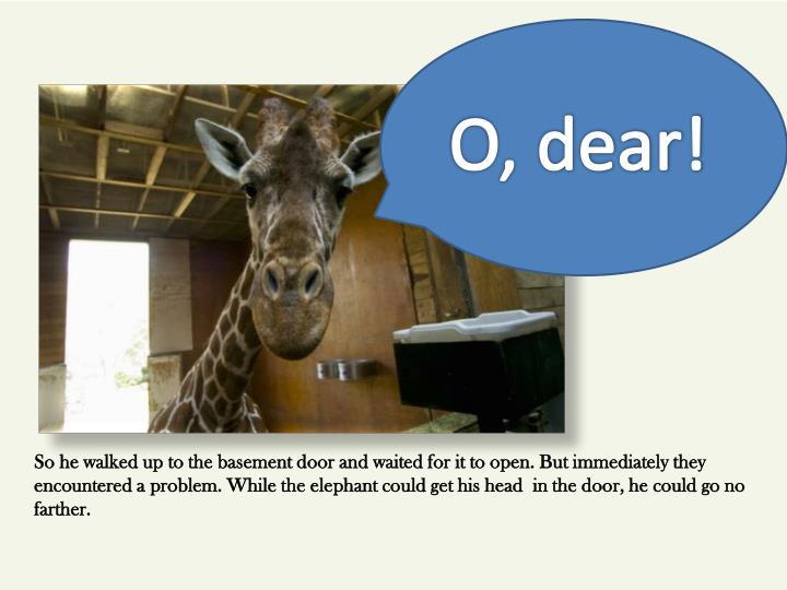 O, dear!